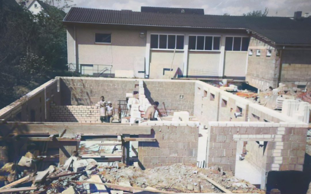 Der Bau des Vereinsheims